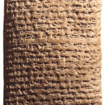 Akkadian diplomatic letter found in Tell Amarna.
