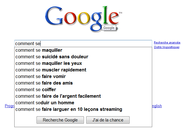 google autocompletion