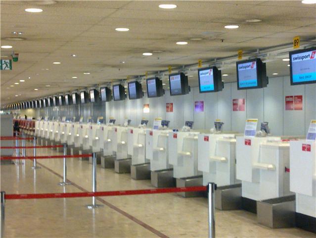 aéroport de geneve guichet enregistrement