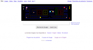 Le logo de Google transformé en pacman
